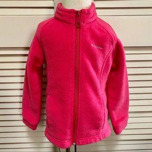 Columbia 4T Hot Pink Girl's Zip Up Jacket
